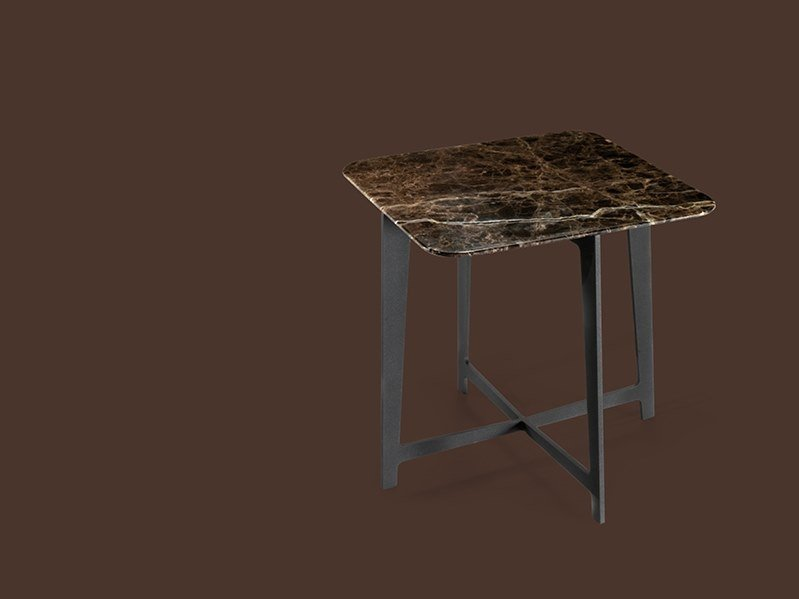 Square marble coffee table for living room B SERIES | Square coffee table by Borzalino