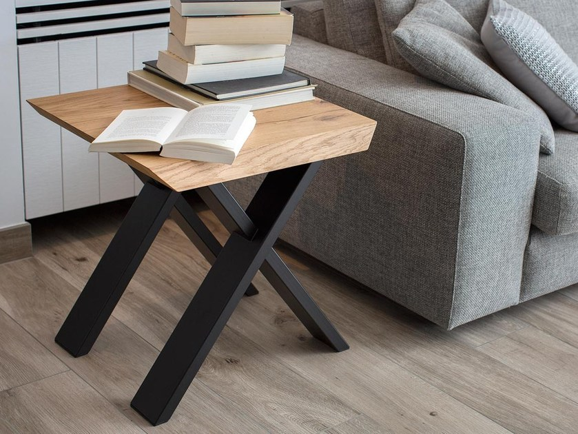 Low square wood veneer coffee table FOREST OAK | Square coffee table by Joli
