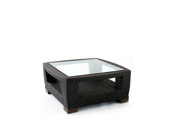 Square coffee table with storage space TRANQUILITY | Square coffee table by 7OCEANS DESIGNS