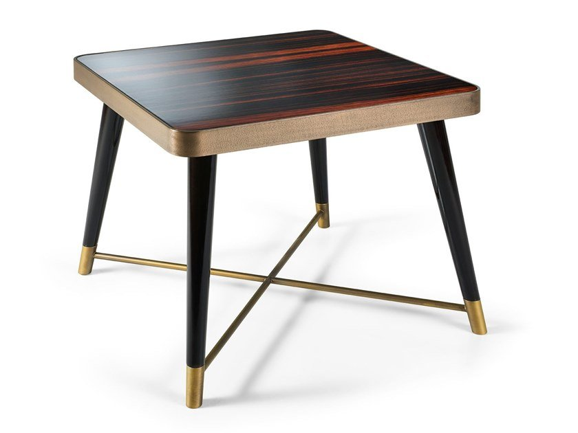 Square ebony side table PEGGY | Square coffee table by Sicis