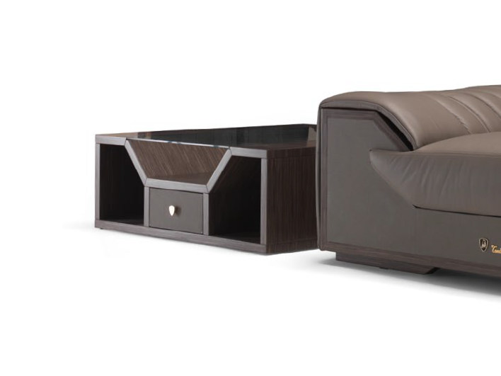 Low square coffee table for living room LONG RACE   Square coffee table by Tonino Lamborghini Casa