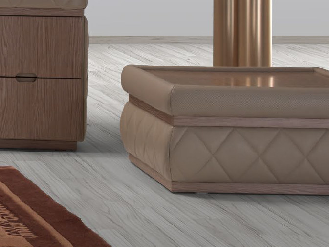 Tavolino basso quadrato in pelle MELBOURNE | Tavolino quadrato by Tonino Lamborghini Casa