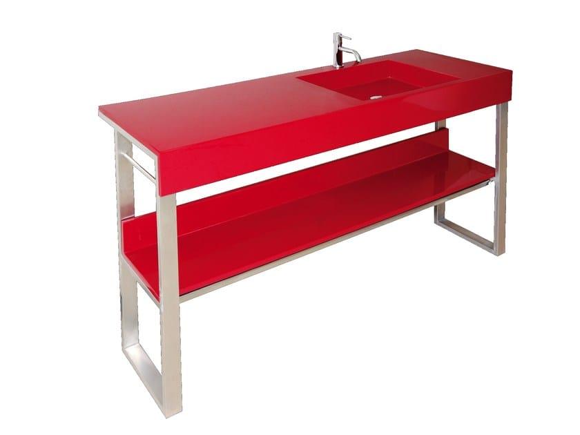 Pietraluce® console sink SQUARE A   Console sink by Technova