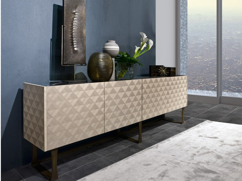 Sideboard with doors SQUARE CR63 by Carpanelli Contemporary