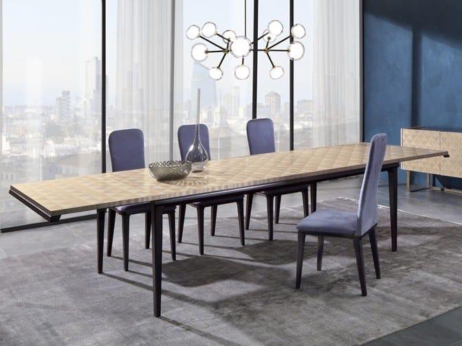 Extending rectangular maple table SQUARE   Extending table by Carpanelli