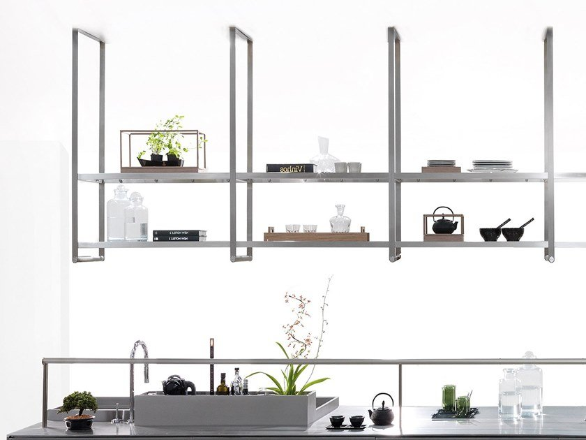 Floating shelving unit SQUARE | Floating shelving unit by Ornare