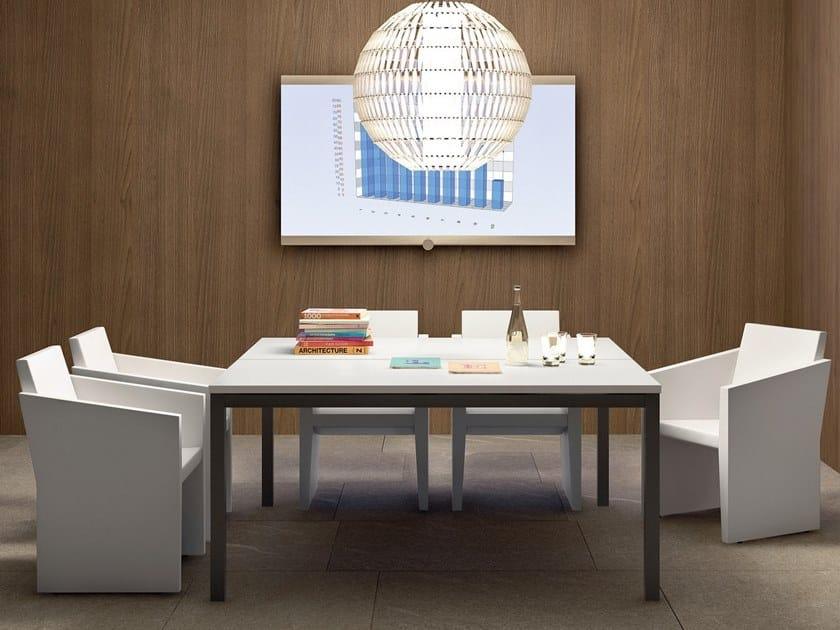 Square meeting table YARD | Square meeting table by Martex