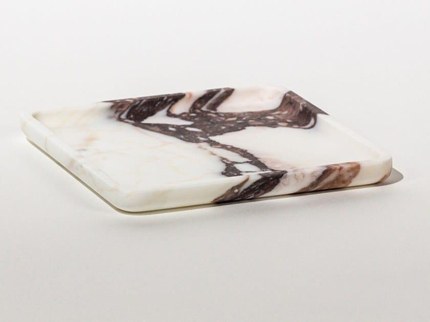 Vassoio quadrato in marmo SQUARE PLATE CALACATTA VIOLA by Maami Home