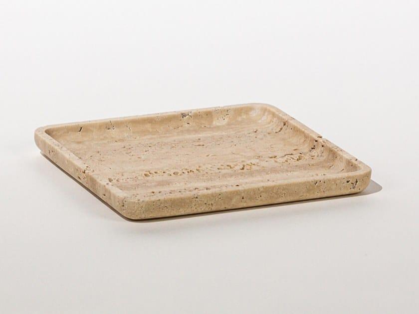Vassoio quadrato in marmo SQUARE PLATE TRAVERTINE by Maami Home