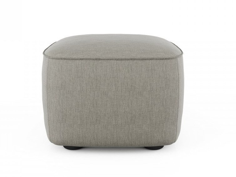 Square fabric pouf SCENE | Square pouf by Huppé
