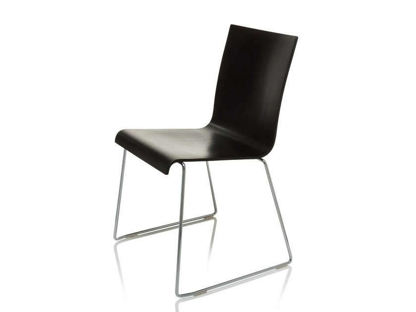Sled base chair SQUARE by RIGA CHAIR