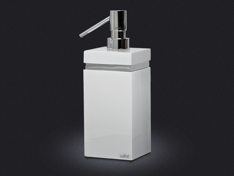 Resin liquid soap dispenser SQUARE RING | Liquid soap dispenser by Vallvé