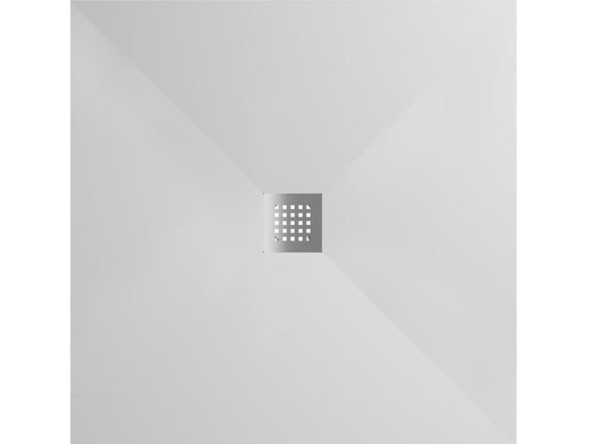 Piatto doccia quadrato in Corian® FILO | Piatto doccia quadrato by Karol