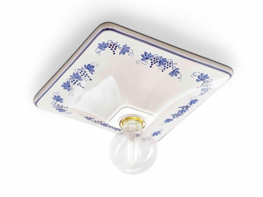 TriesteFaretto Lampada Ferroluce Ceramica Da SoffittoIn Quadrato 8Om0wNvn