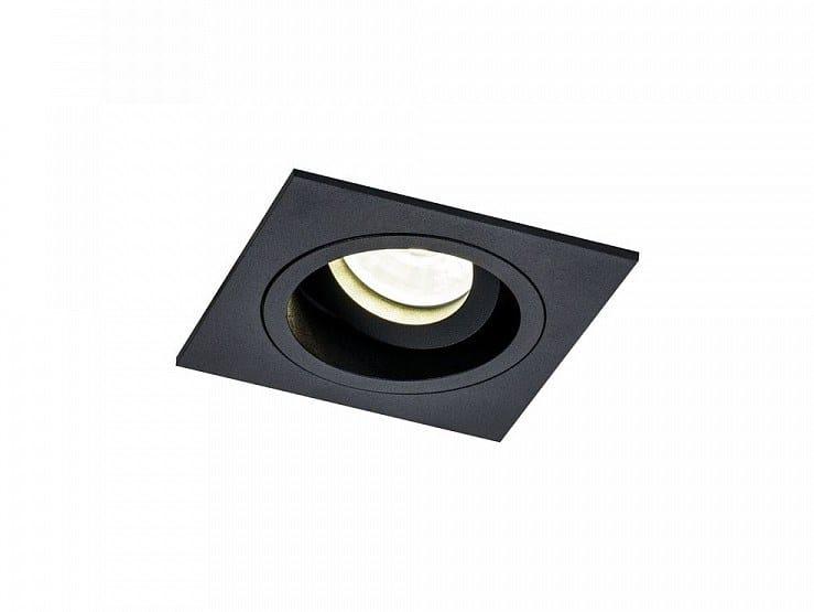 Adjustable powder coated aluminium spotlight AKRON   Square spotlight by MAYTONI