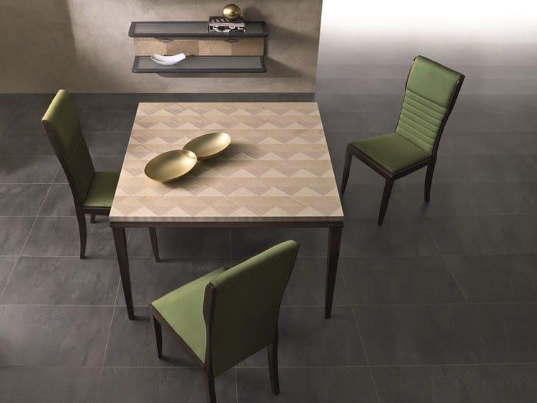 Square maple table SQUARE | Square table by Carpanelli