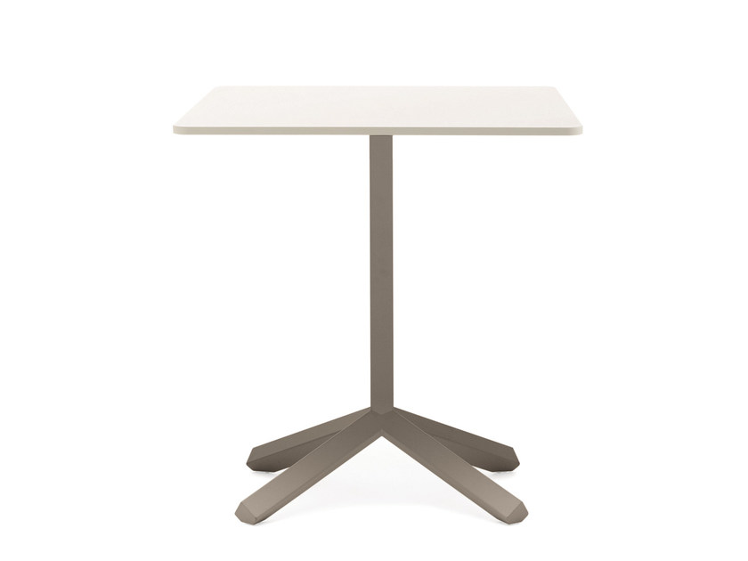 Square MDF table with 4-star base FLAMINGO | Square table by Emmegi