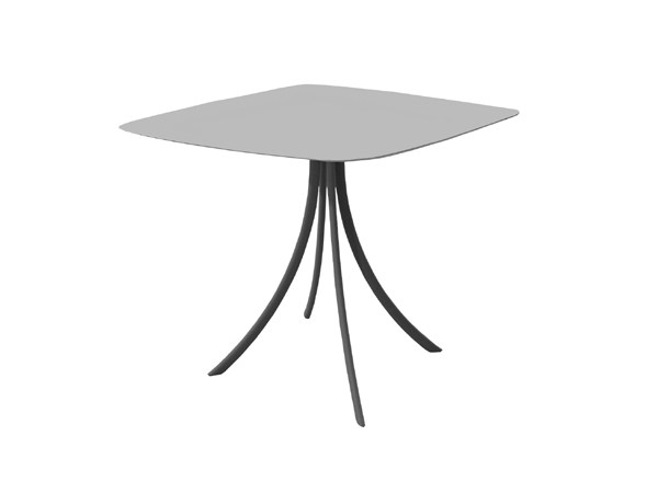 Square Stainless Steel Garden Table Bistro By Expormim