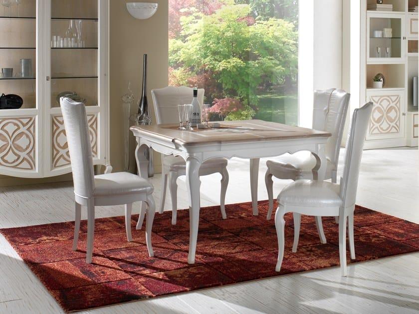 Extending square ash table CA' FOSCARI | Square table by MOLETTA