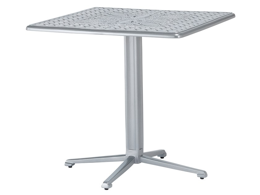 Square aluminium garden table ARTEMIS | Square table by Oxley's Furniture