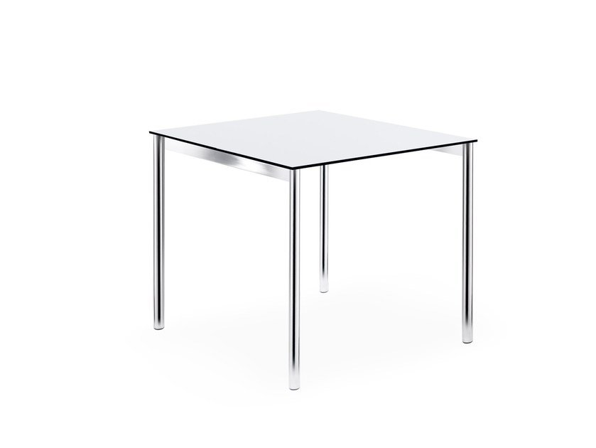 Lacquered square table LOGOTABLE | Square table by rosconi