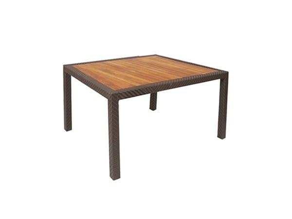 Tavolo da giardino da pranzo quadrato in teak ALPINE | Tavolo quadrato by 7OCEANS DESIGNS