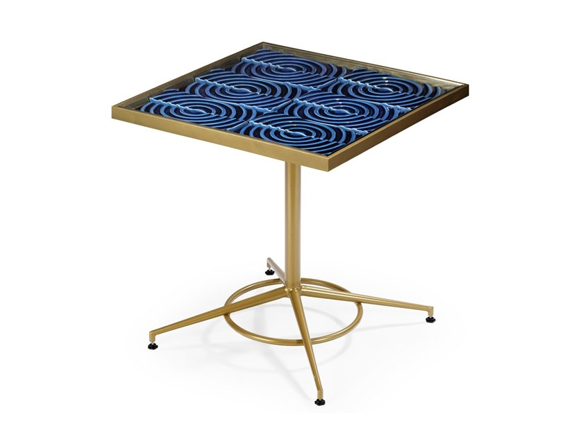 Square ceramic table MAZE | Square table by Theia