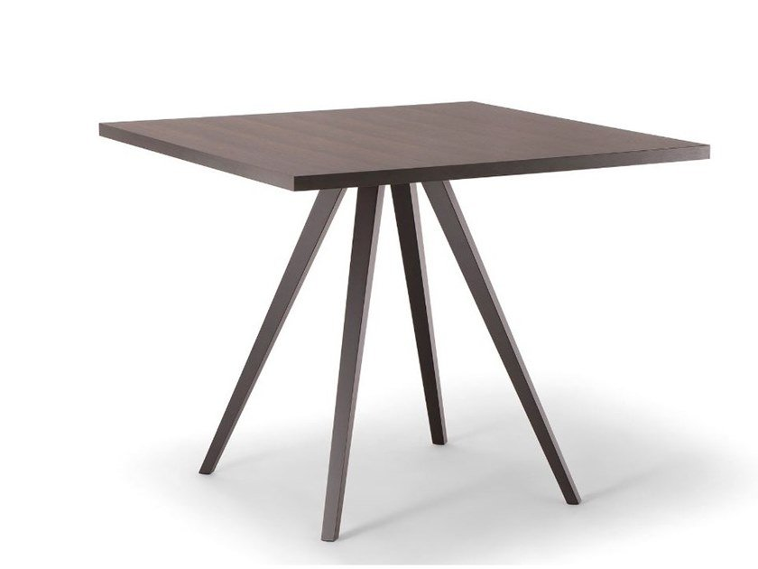 Square solid wood table MILANO | Square table by Tirolo