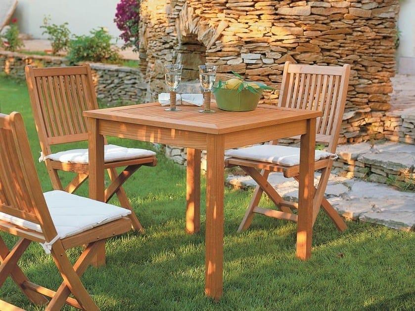 Square teak garden table LLOYD | Square table by Unopiù