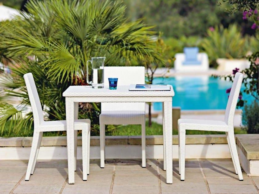 Square garden table SUNLACE | Square table by Unopiù