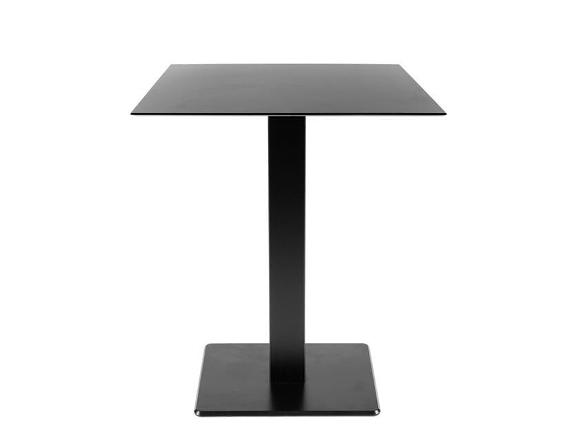 Square iron contract table SLIM   Square table by Vela Arredamenti