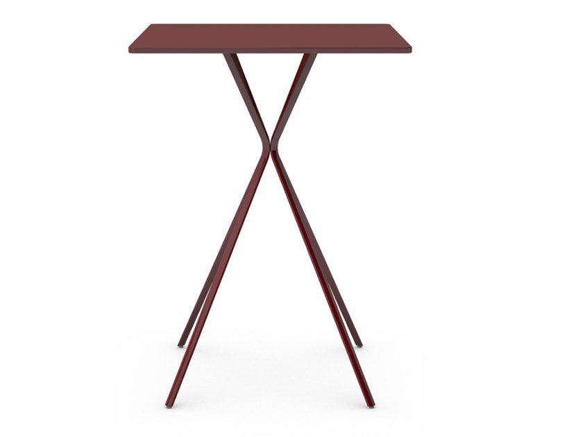 Square iron dining table CURVA | Square table by Vela Arredamenti