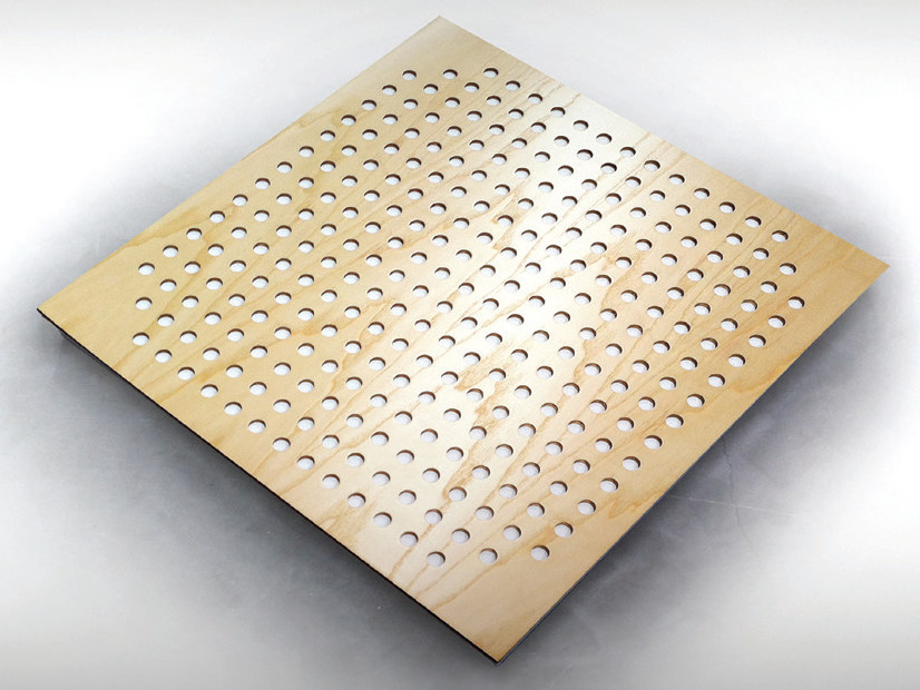 Wooden decorative acoustical panel SQUARE TILE PRO by Vicoustic by Exhibo