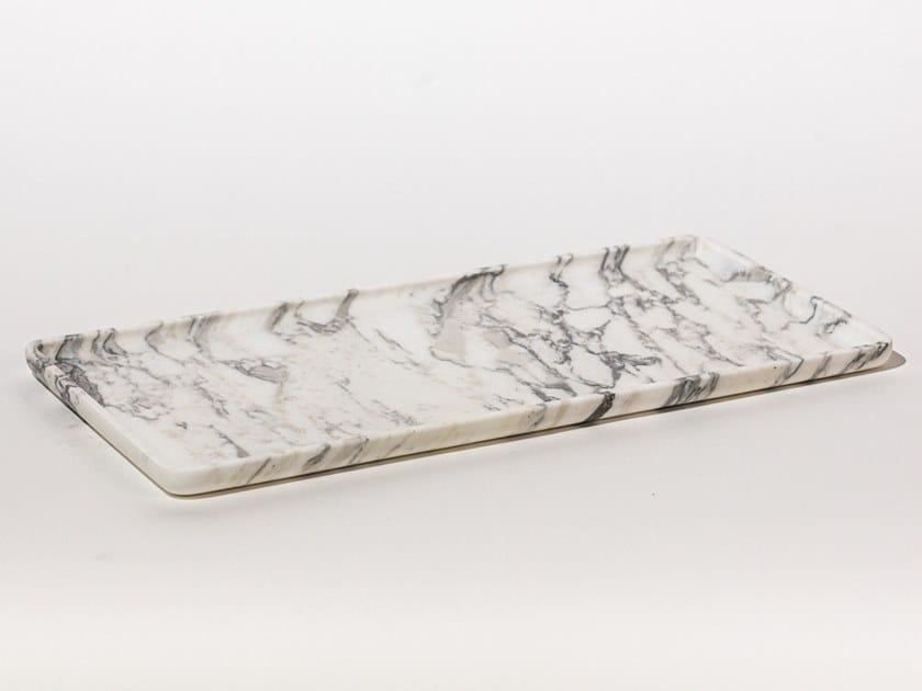 Vassoio rettangolare in marmo SQUARE TRAY ARABESCATO by Maami Home