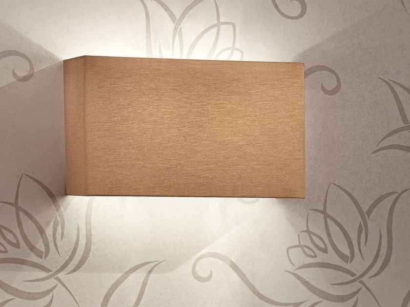 Contemporary style direct-indirect light fabric wall lamp SQUARE | Wall lamp by Masiero