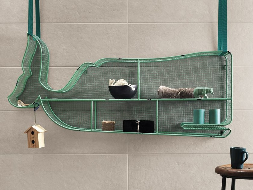 White-paste wall tiles with concrete effect SQUARE WALL Visone by Impronta Ceramiche
