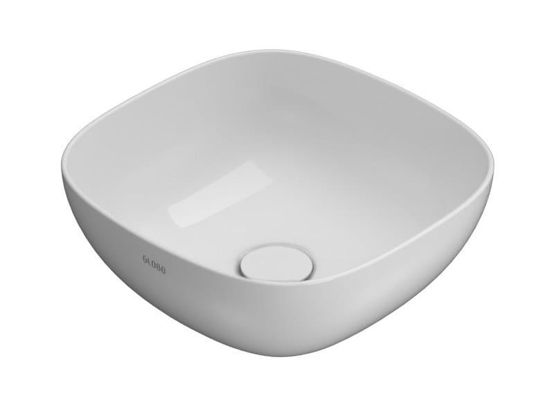Countertop square Globothin® washbasin T-EDGE | Square washbasin by Ceramica Globo