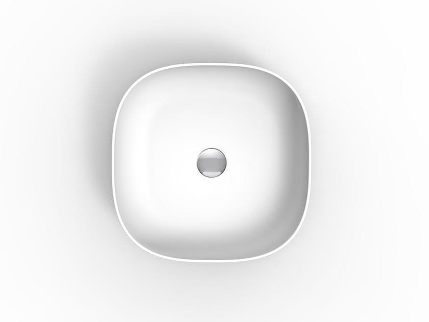 Countertop square ceramic washbasin GLAM   Square washbasin by Scarabeo Ceramiche
