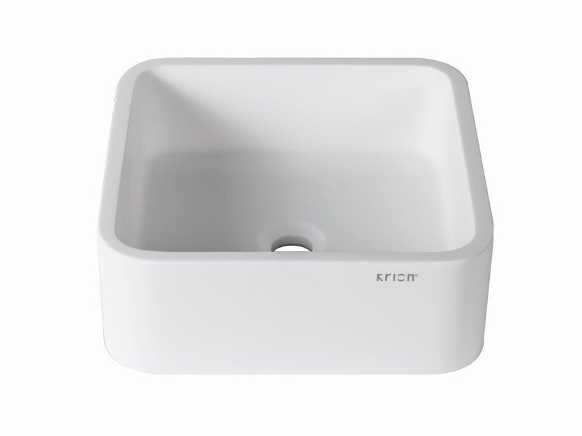 Countertop square Krion® washbasin 3-WAY | Square washbasin by Systempool