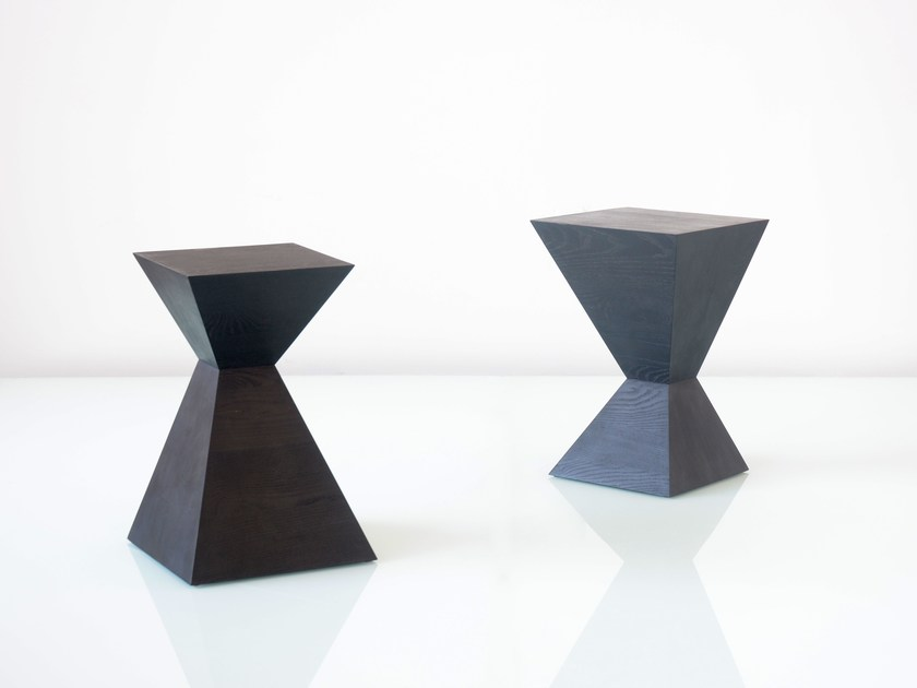 Solid wood stool / coffee table SQUARETOWN by hollis+morris