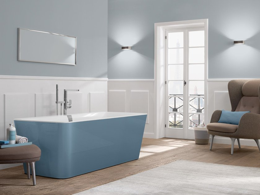 Quaryl® bathtub SQUARO EDGE 12 - COLOUR ON DEMAND by Villeroy & Boch