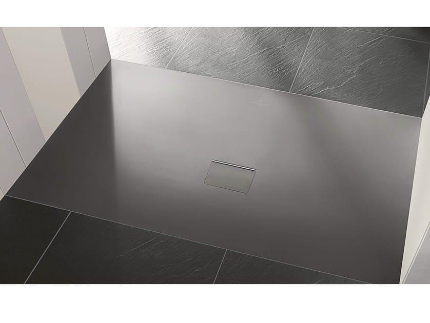 Quaryl® shower tray SQUARO INFINITY by Villeroy & Boch