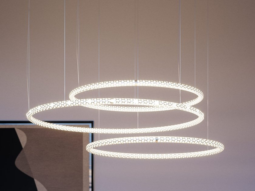 Led Aluminium Pendant Lamp Squiggle Collection
