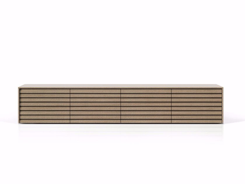 Suspended wooden sideboard with doors SSX401 | Sideboard with doors by Punt
