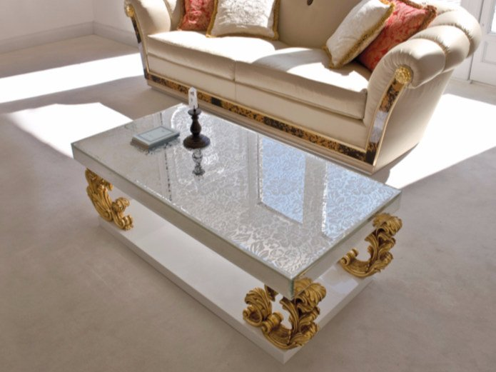 Low rectangular coffee table ST133 | Coffee table by Rozzoni
