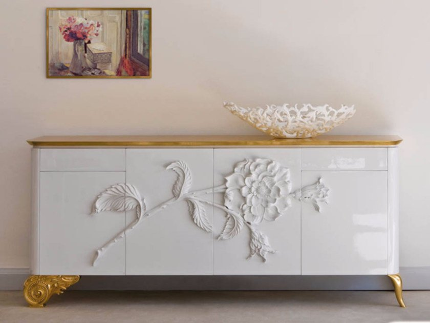 Lacquered sideboard with doors ST135 | Sideboard by Rozzoni