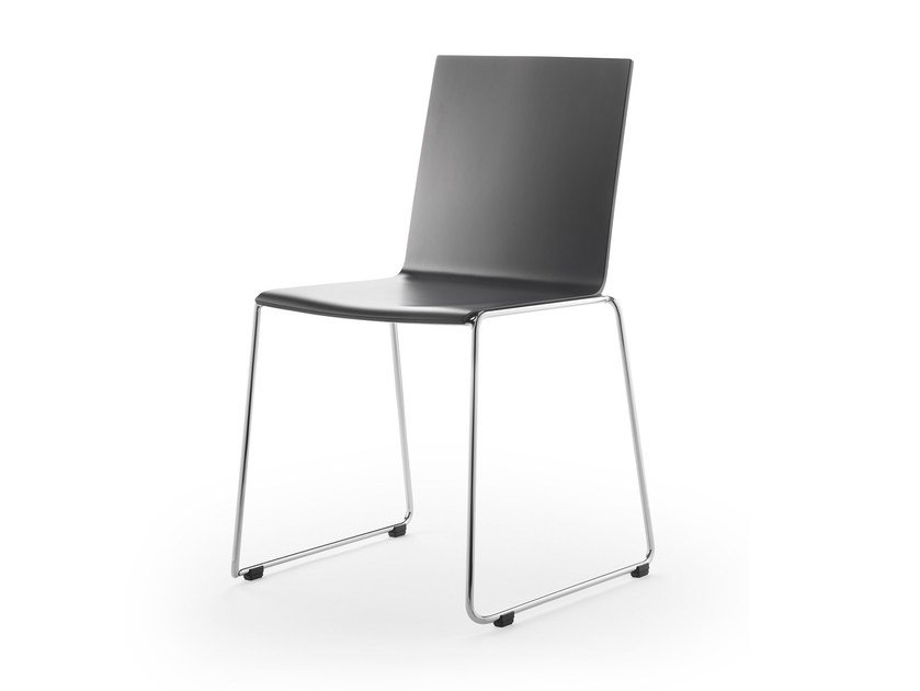 Stackable laminate chair ELESS | Stackable chair by rosconi