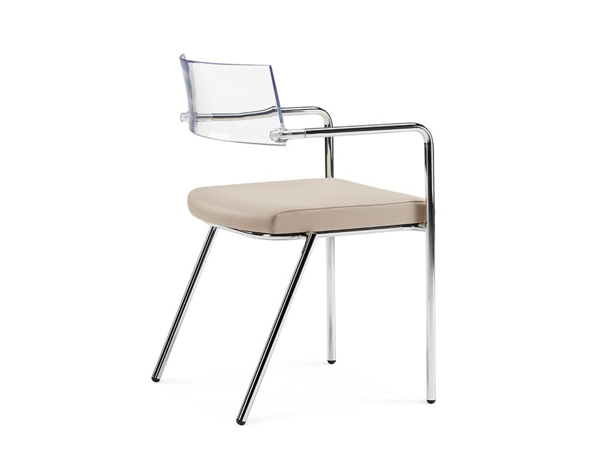 Stackable training chair with armrests SLIM | Stackable training chair by Arte & D