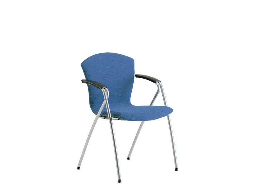 Stackable fabric training chair with armrests TA-CHERIE | Stackable training chair by Sesta