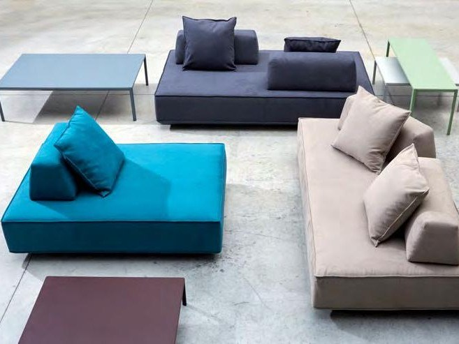 Fabric sofa with removable cover STAGE | Sofa by H&Co